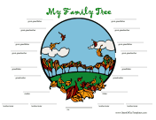 Autumn Family Tree