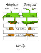 Family Tree Adoptive And Biological