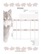 Maple Leaves And Wolf Invoice