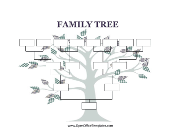 Blank family tree openoffice template for Picture of family tree template