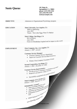 Education CV for Students OpenOffice Template