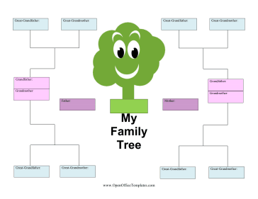 Kid Family Tree OpenOffice Template