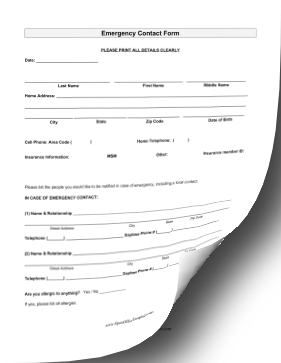 Student Emergency Contact OpenOffice Template