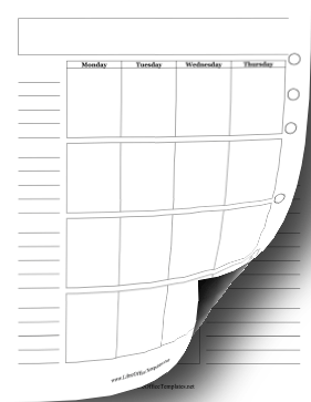 Two-Page Monthly Planner OpenOffice Template
