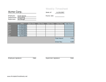 weekly timesheet openoffice template