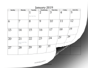 2019 Twelve-Month Calendar OpenOffice Template
