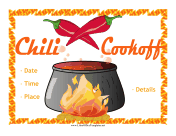 Chili BBQ Flyer OpenOffice Template