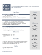 First Job Resume OpenOffice Template