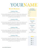 Resume Without Dates OpenOffice Template